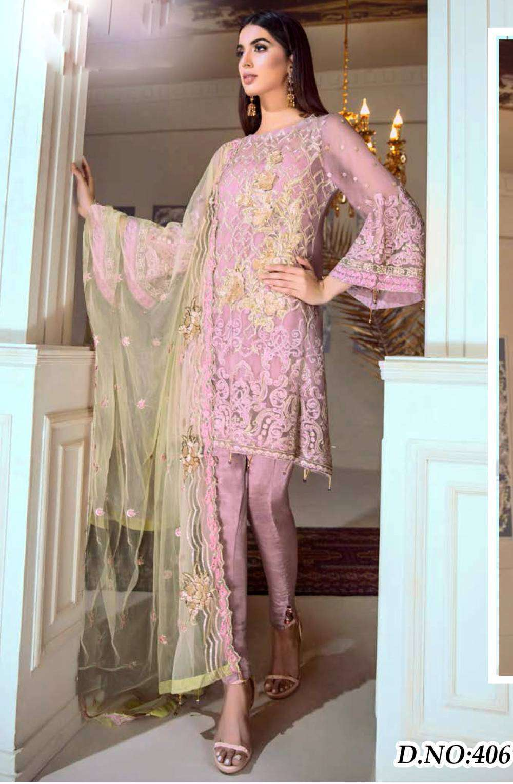 Casual Wear Pink Georgette Fabric With Embroidered Salwar Kameez MYSK-1706