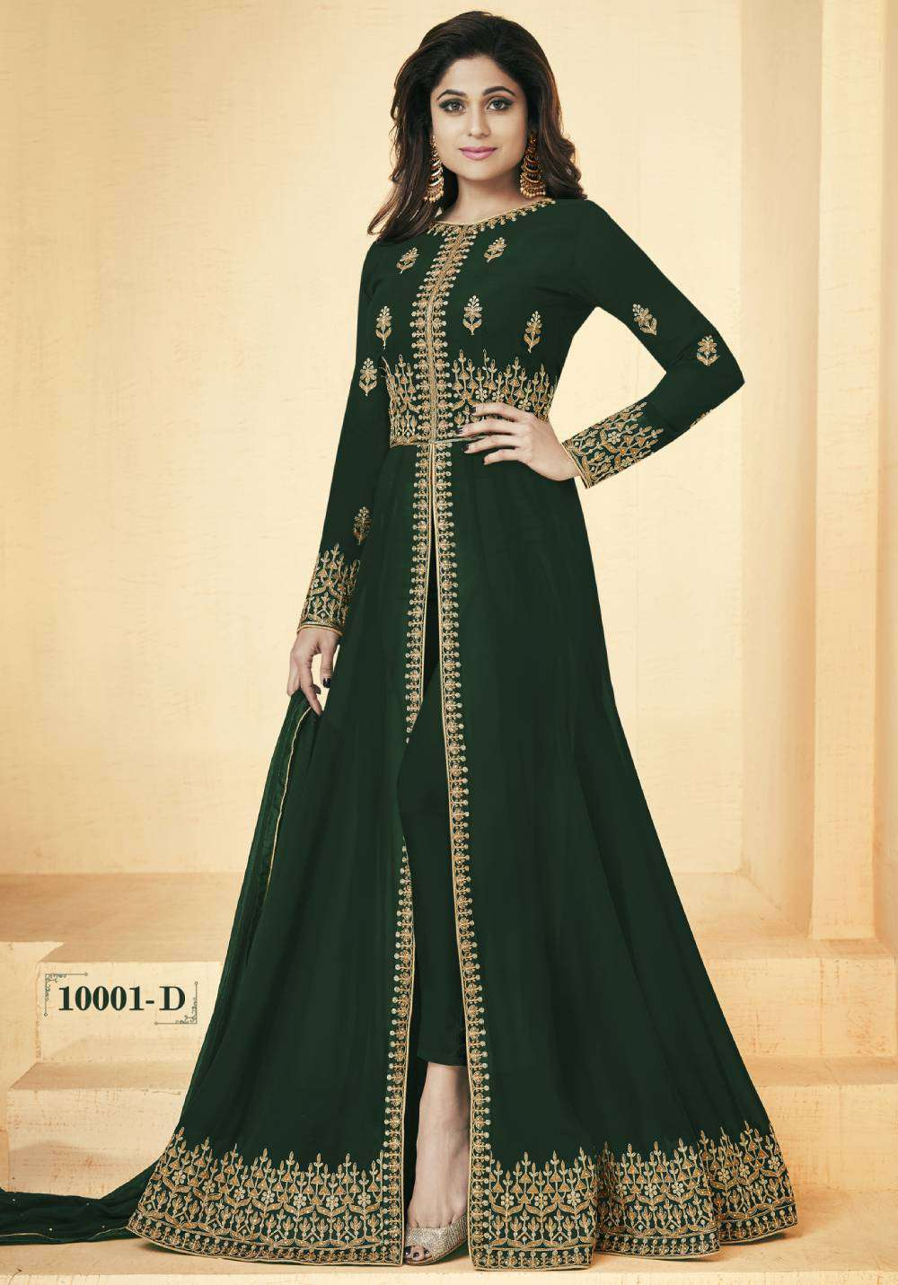 Green Colour Georgette Embroidered Salwar Kameez MYSK-2115