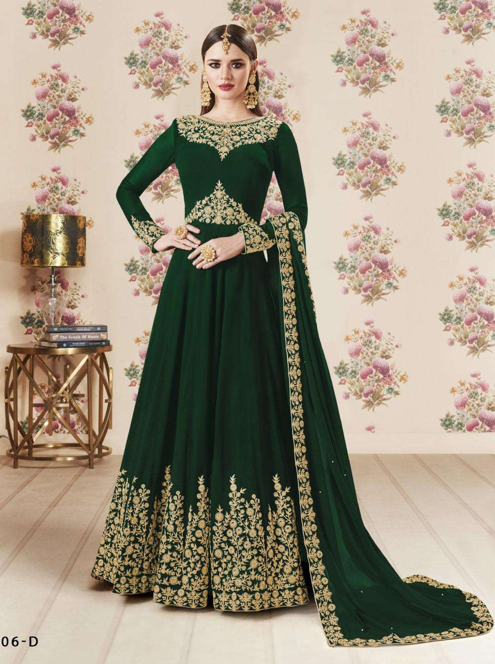 Anarkali Green Colour Real Georgette Embroidered Salwar Kameez MYSK-2169