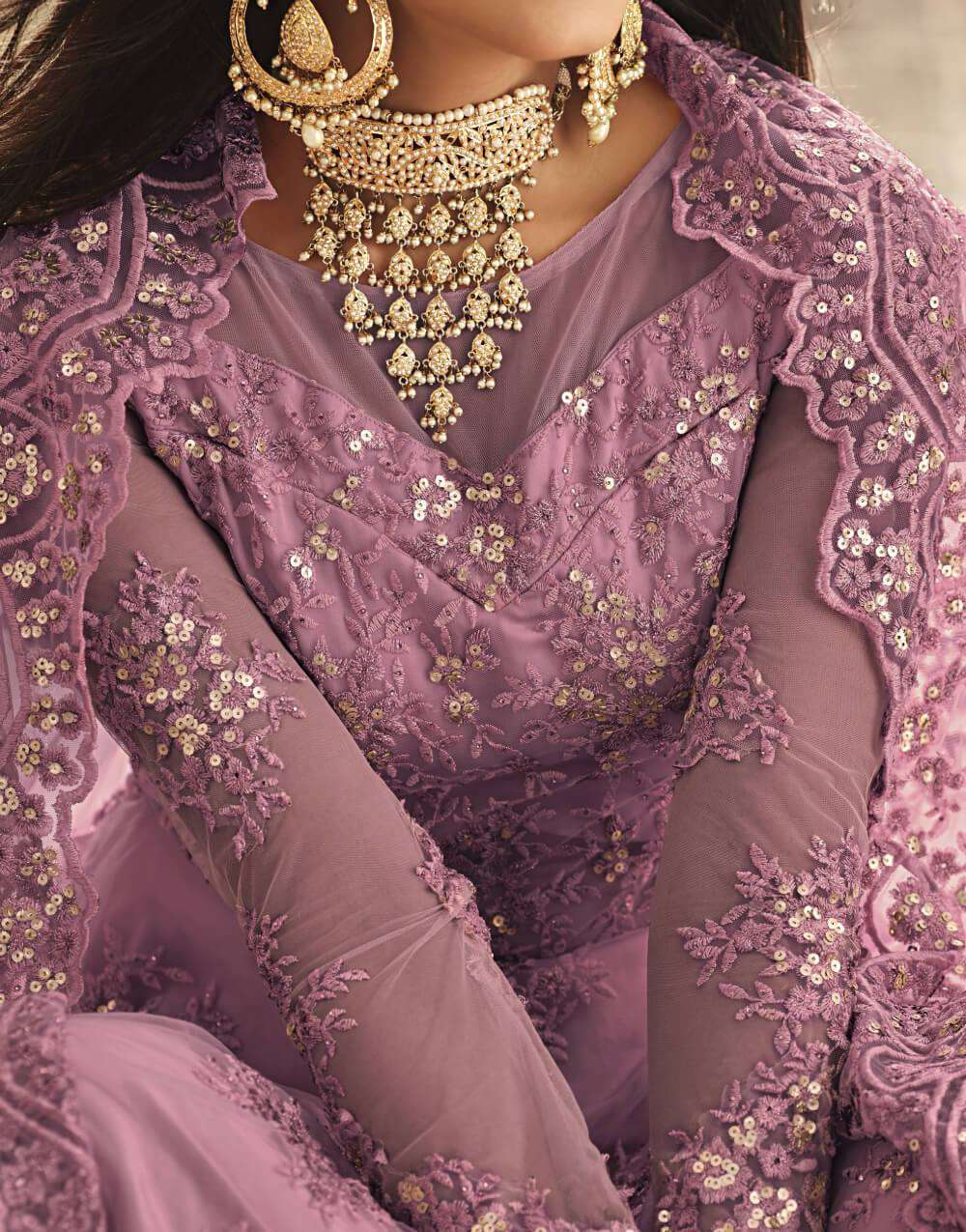 Heavy Embroidered Purple Anarkali Designer Salwar Kameez MYSK-2292