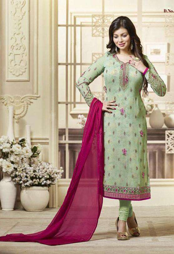 Unique Art Embroidered Light Green Salwar Kameez MYSK-420