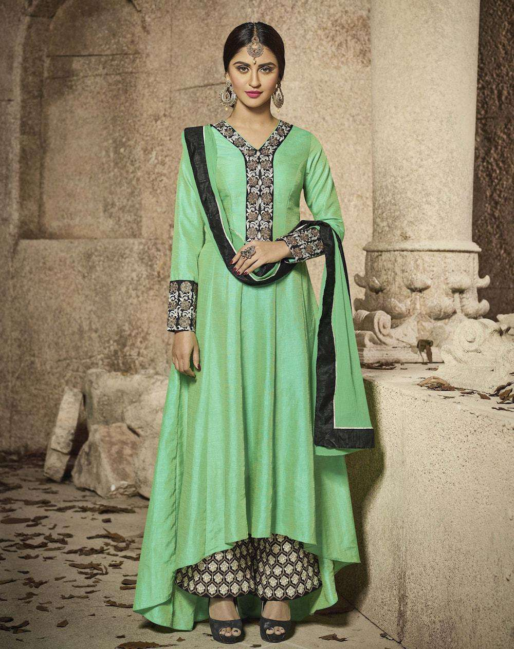 Embroidered Green Salwar Kameez MYSK-494