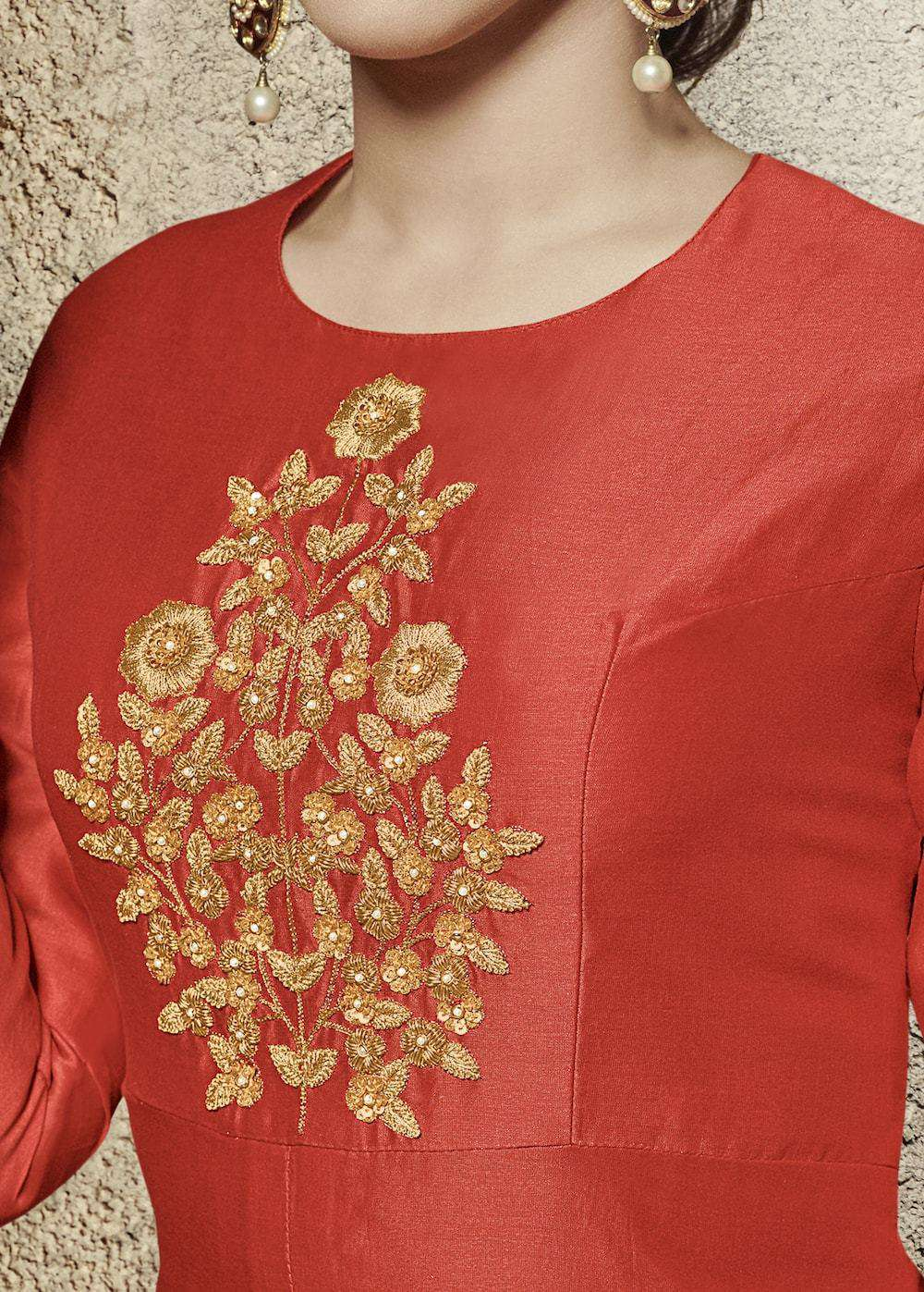 Heavy Embroidered Red Salwar Kameez MYSK-532