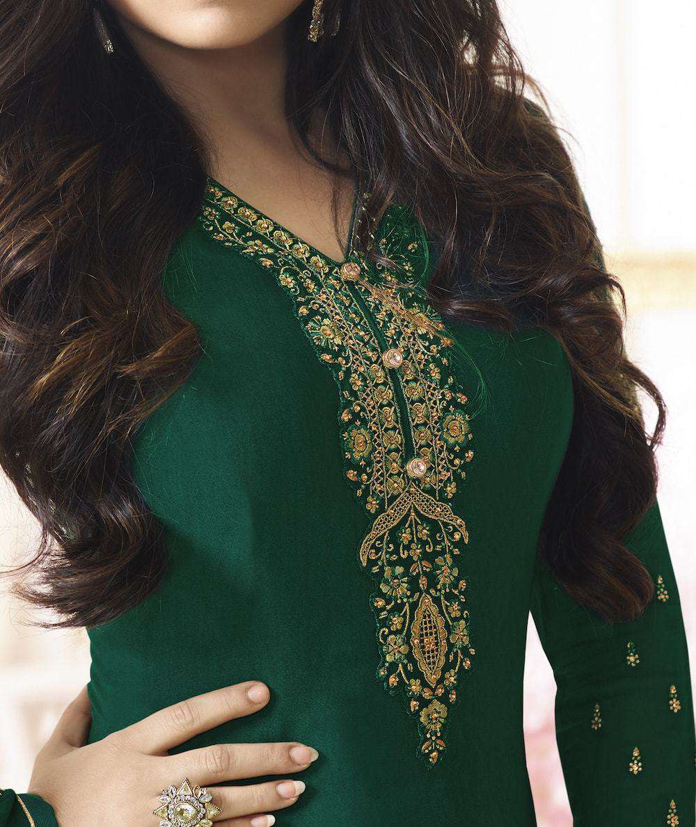 Beautiful Embroidered Green Salwar Kameez MYSK-552