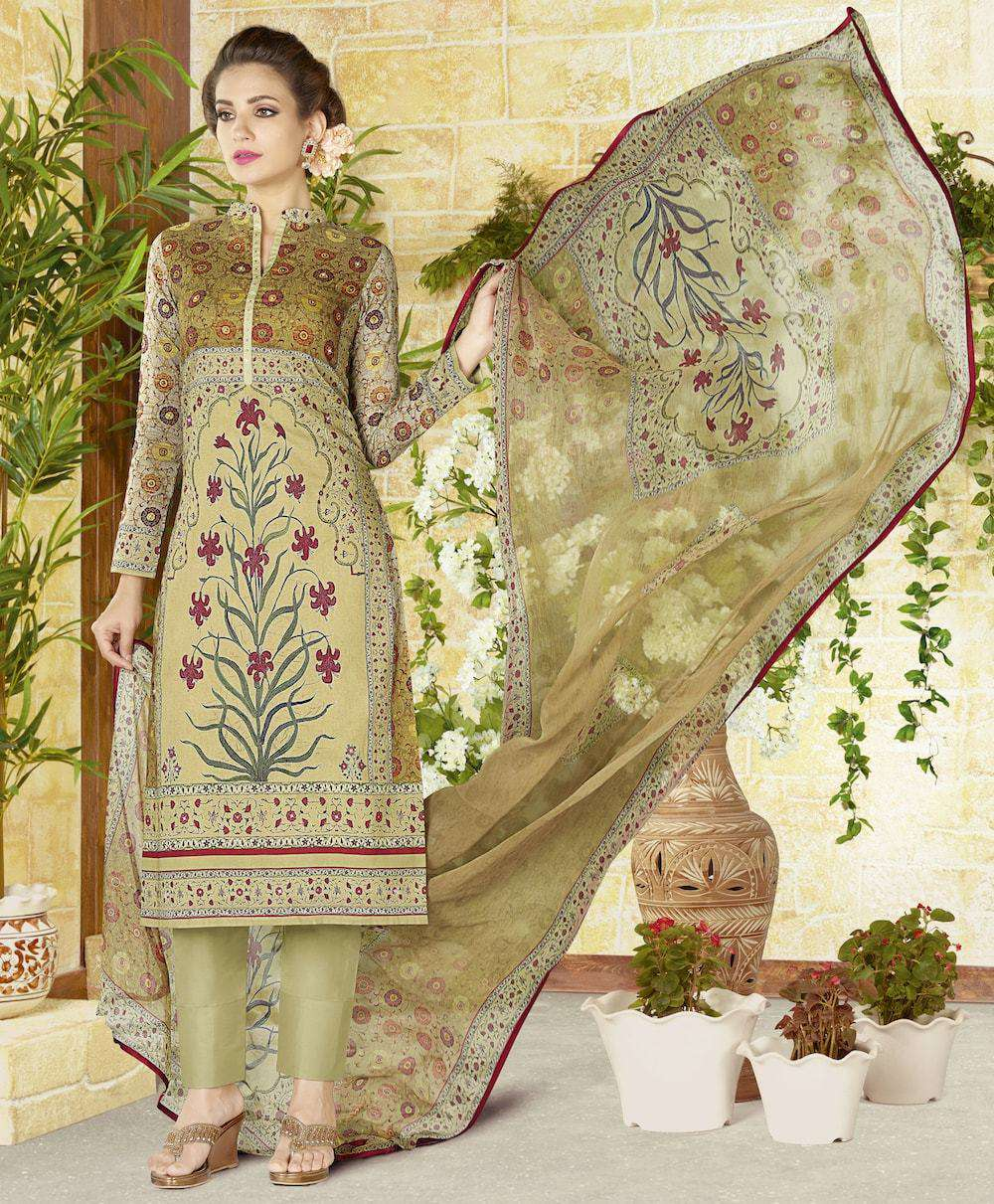Light Green Printed Salwar Kameez MYSK-681