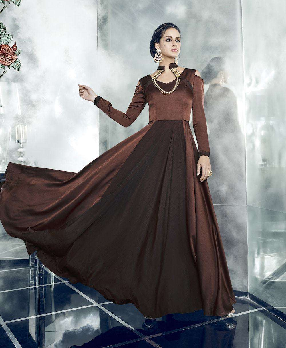 Brown Designer Dress Fancy Salwar Kameez MYSK-969