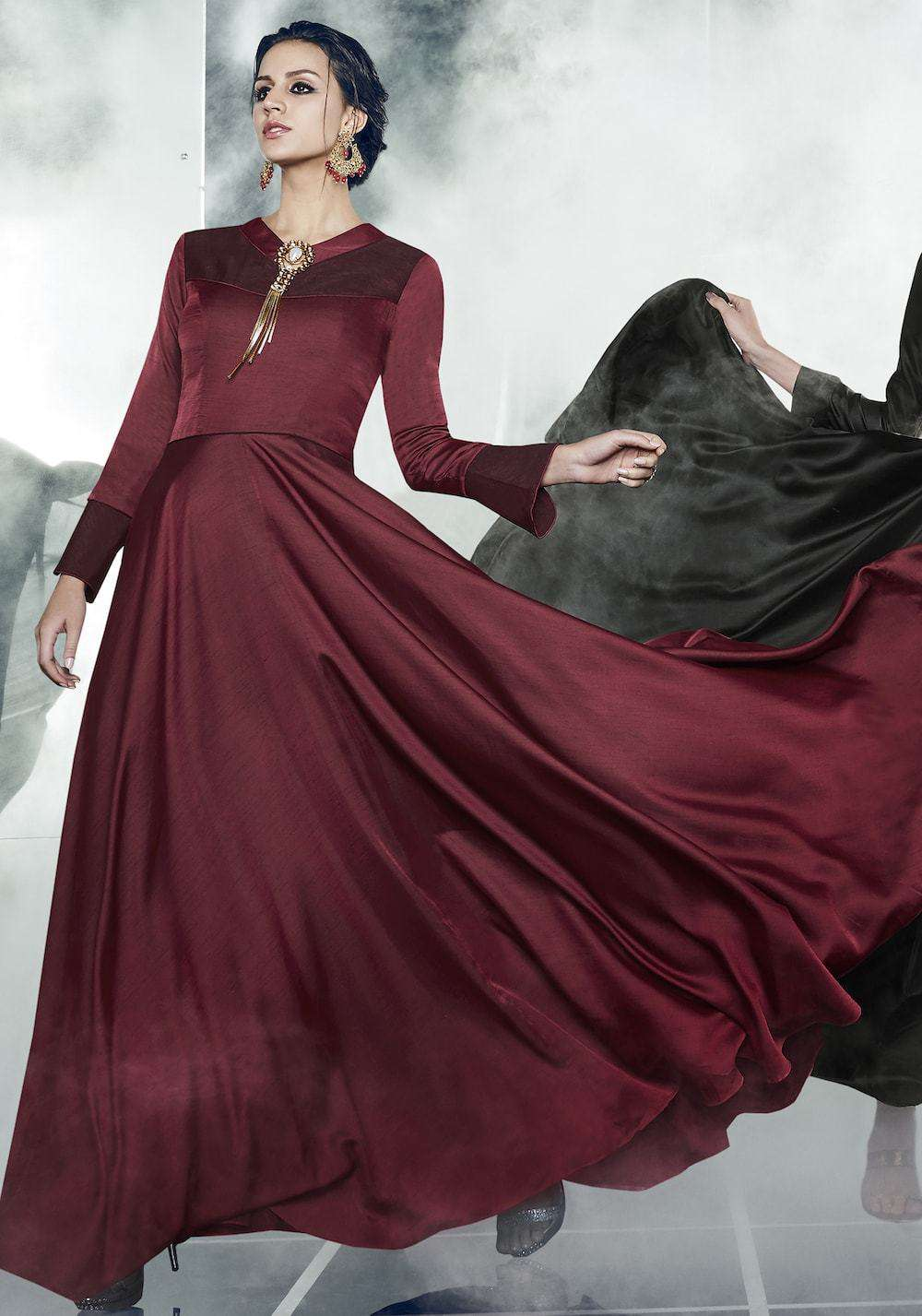 Beautiful Maroon Designer Party Wear Salwar Kameez MYSK-971