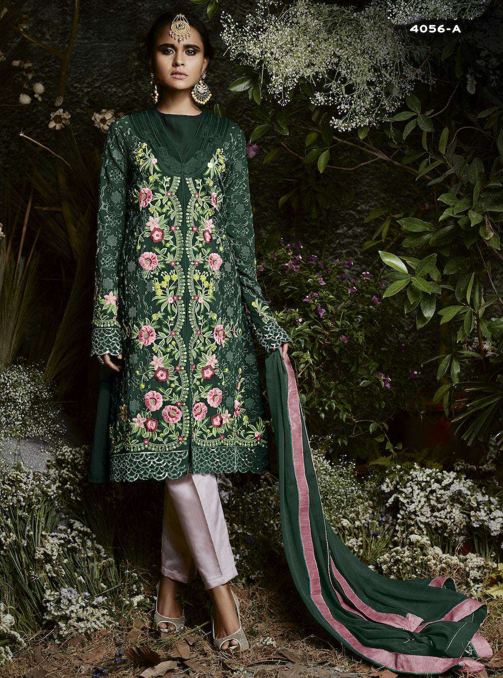Fantastic Green Georgette Party Wear Salwar Kameez MYSK-986