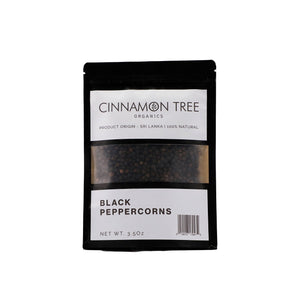 Cinnamon Tree Organics single origin organic black peppercorns 3.5Oz