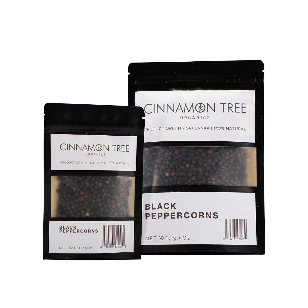 Cinnamon Tree Organics Single origin organic black peppercorns