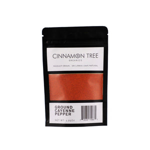 Cinnamon Tree Organics single origin ground cayenne pepper 1.25Oz package