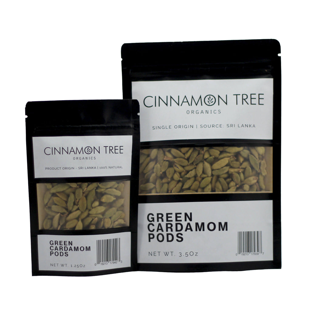 Organically grown fresh green cardamoms