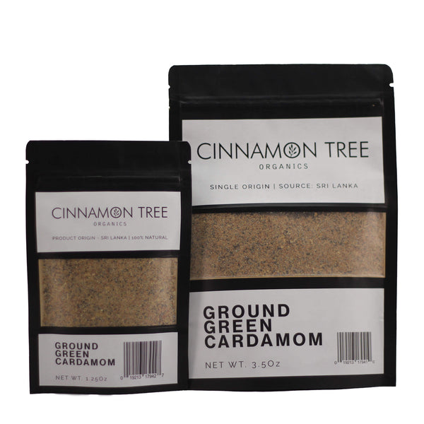 Cinnamon Tree Organics single origin green cardamom packs