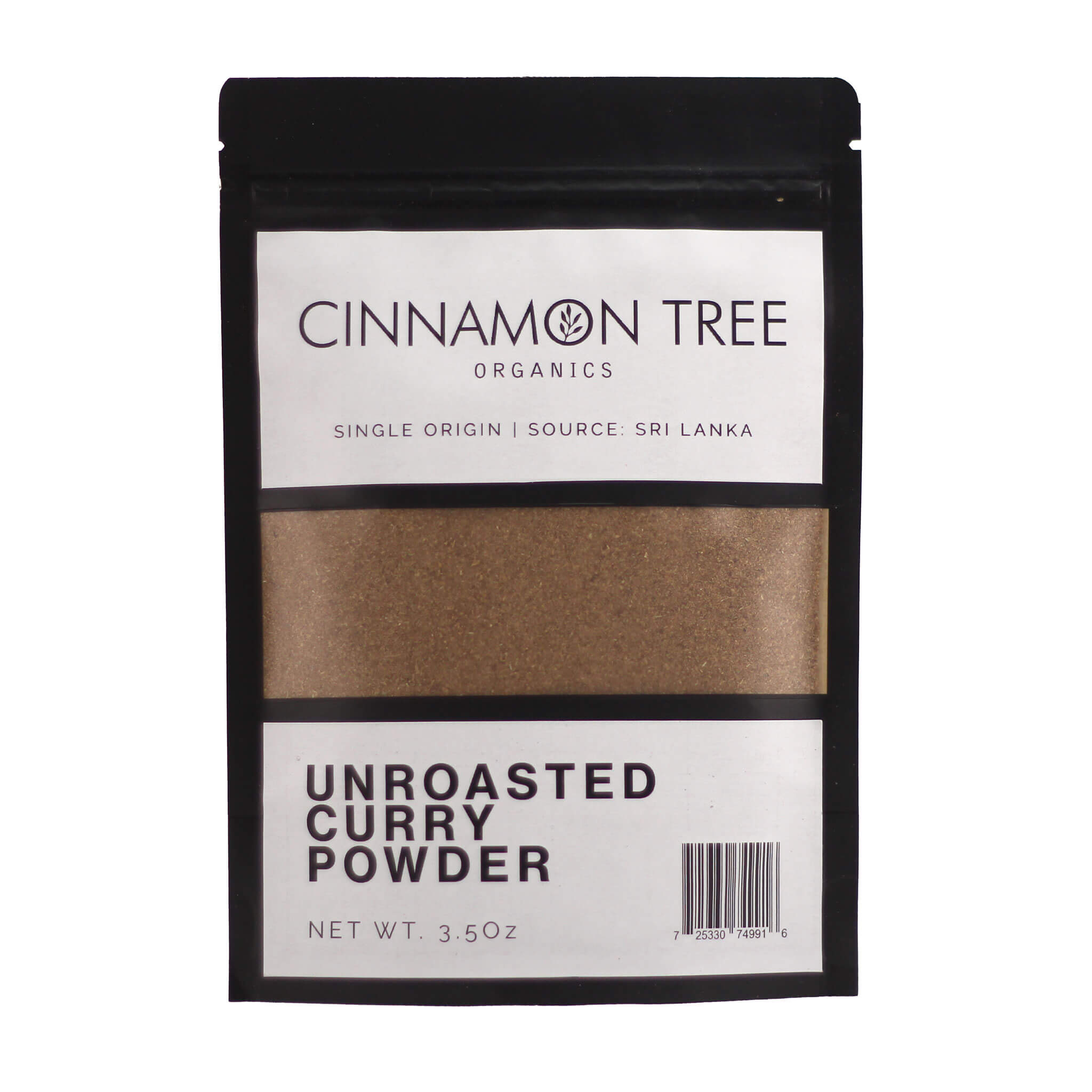Cinnamon Tree Organics Unroasted Curry Powder 3.5Oz Pack