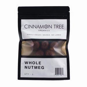 Cinnamon Tree Organics Nutmeg in Shell - Quantity 5