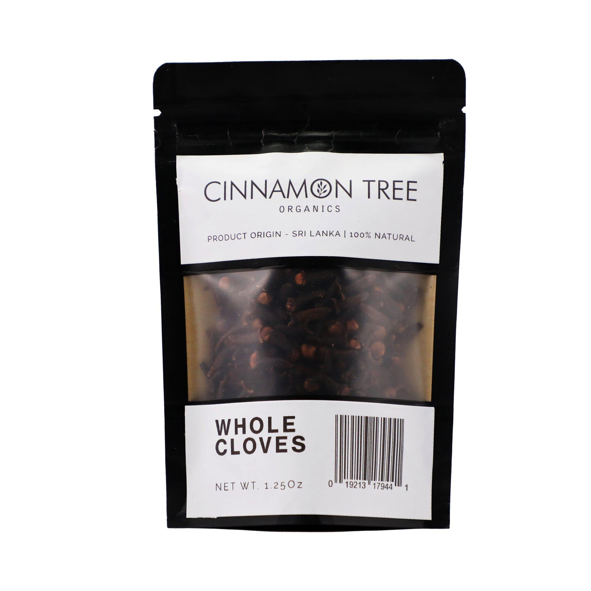 Cinnamon Tree Organics single origin whole cloves 1.25 Oz