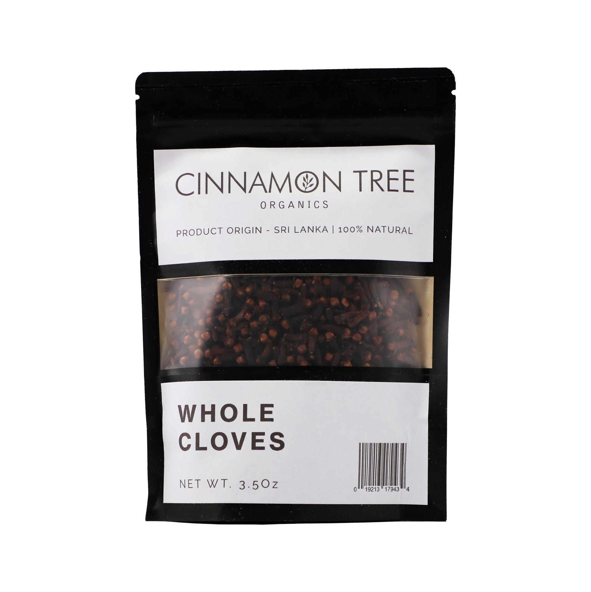 Cinnamon Tree Organics single origin whole cloves 3.5 Oz