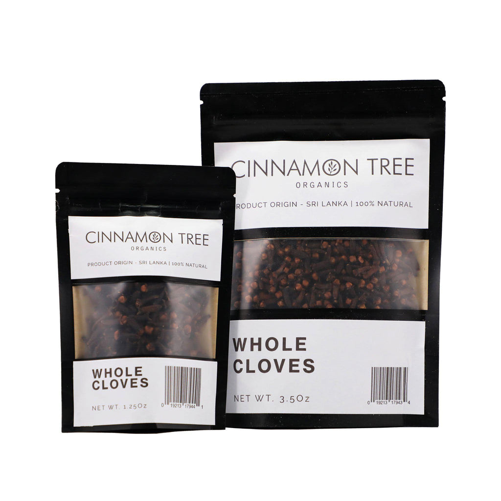 Cinnamon Tree Organics single origin cloves packs