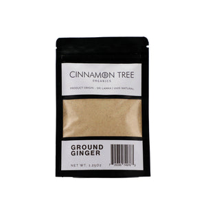 Cinnamon Tree Organics ground Ceylon ginger 1.25 Oz pack