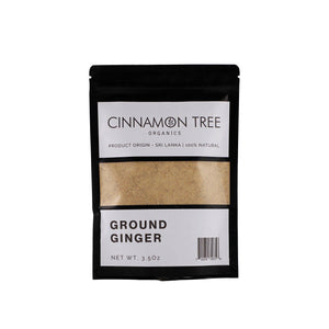 Cinnamon Tree Organics ground Ceylon ginger 3.5 Oz pack