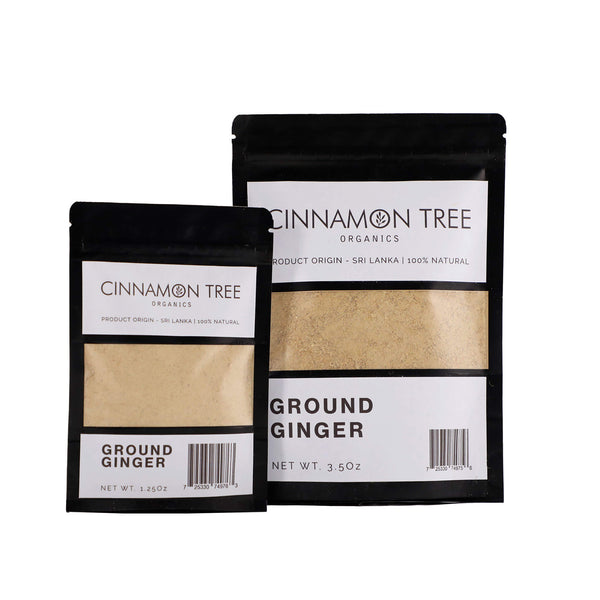 Cinnamon Tree Organics ground Ceylon ginger packs