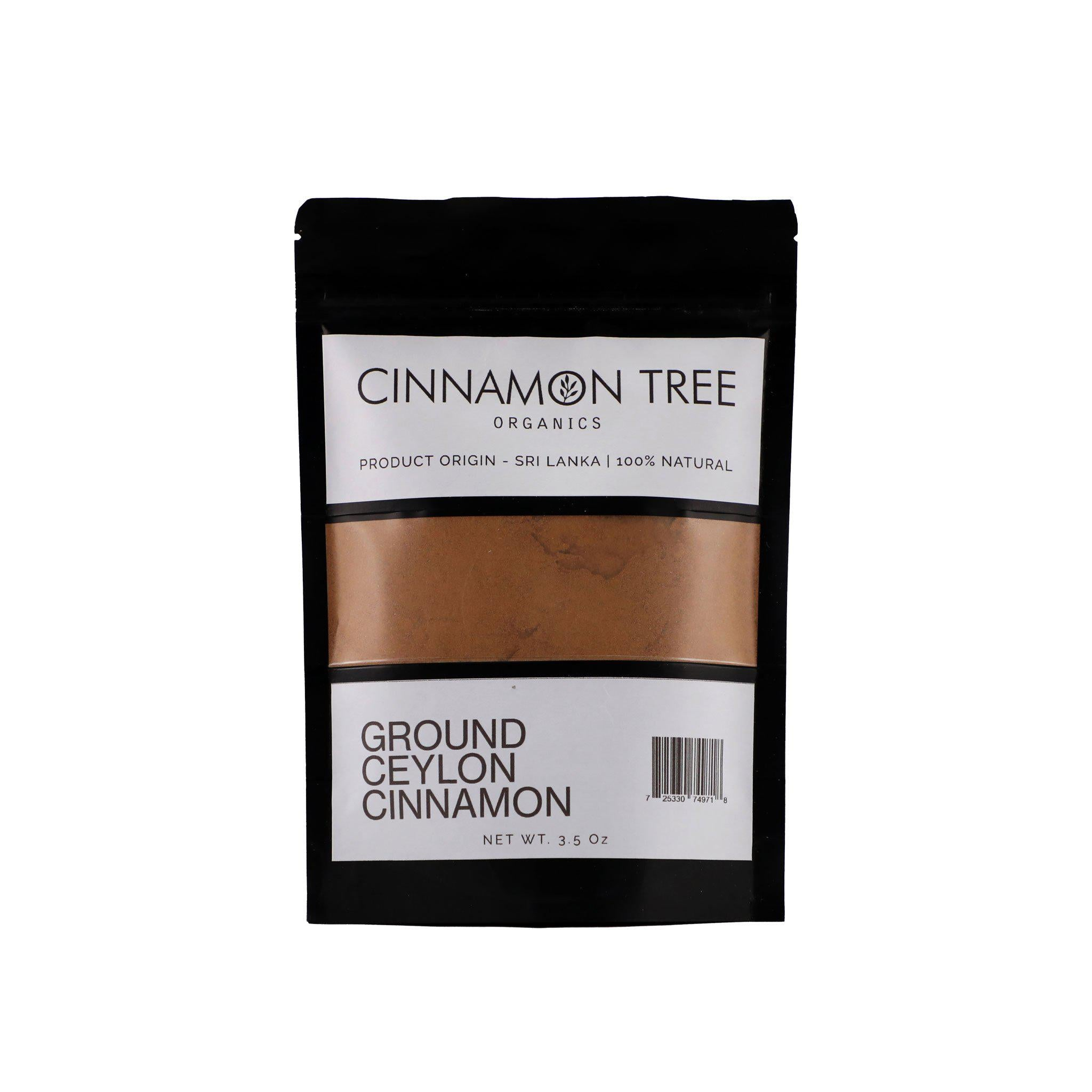 Cinnamon Tree Organics single origin ground Ceylon cinnamon  3.5Oz