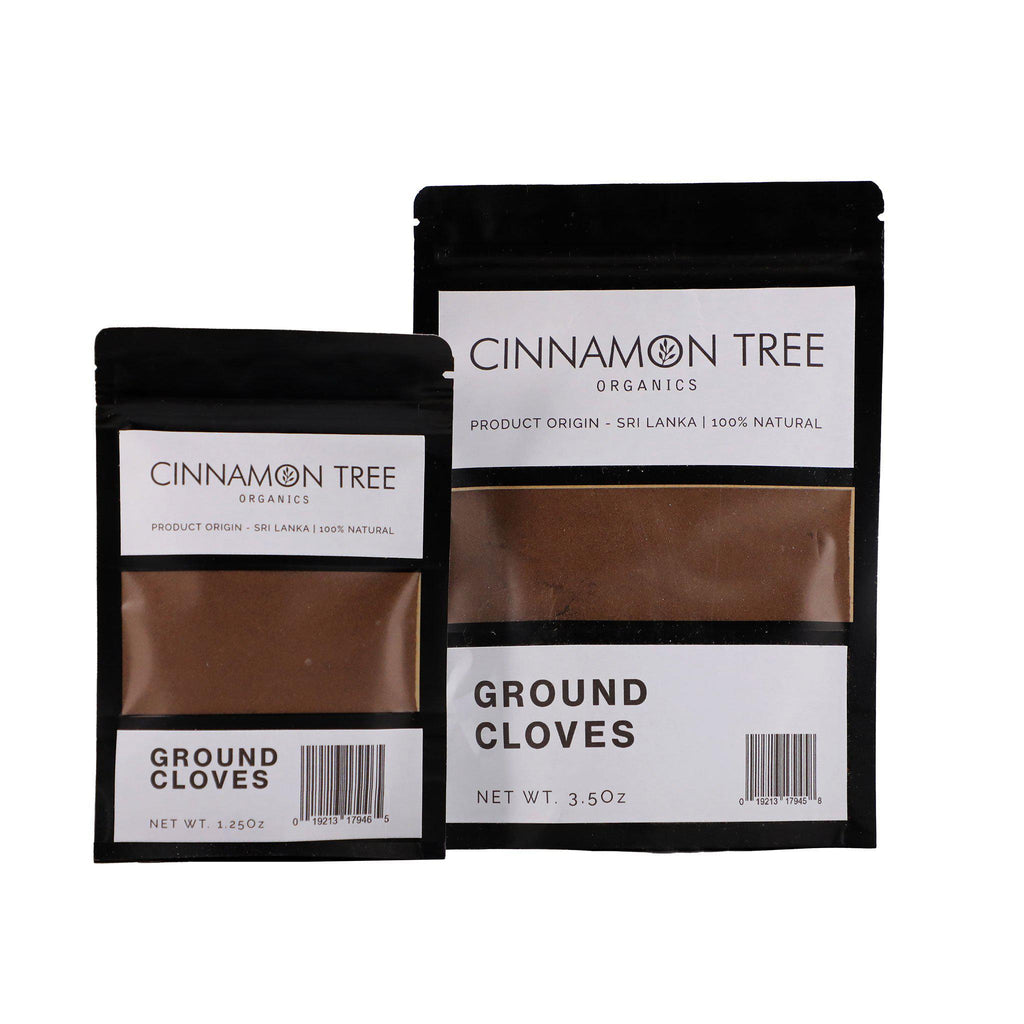 Cinnamon Tree Organics ground cloves packs