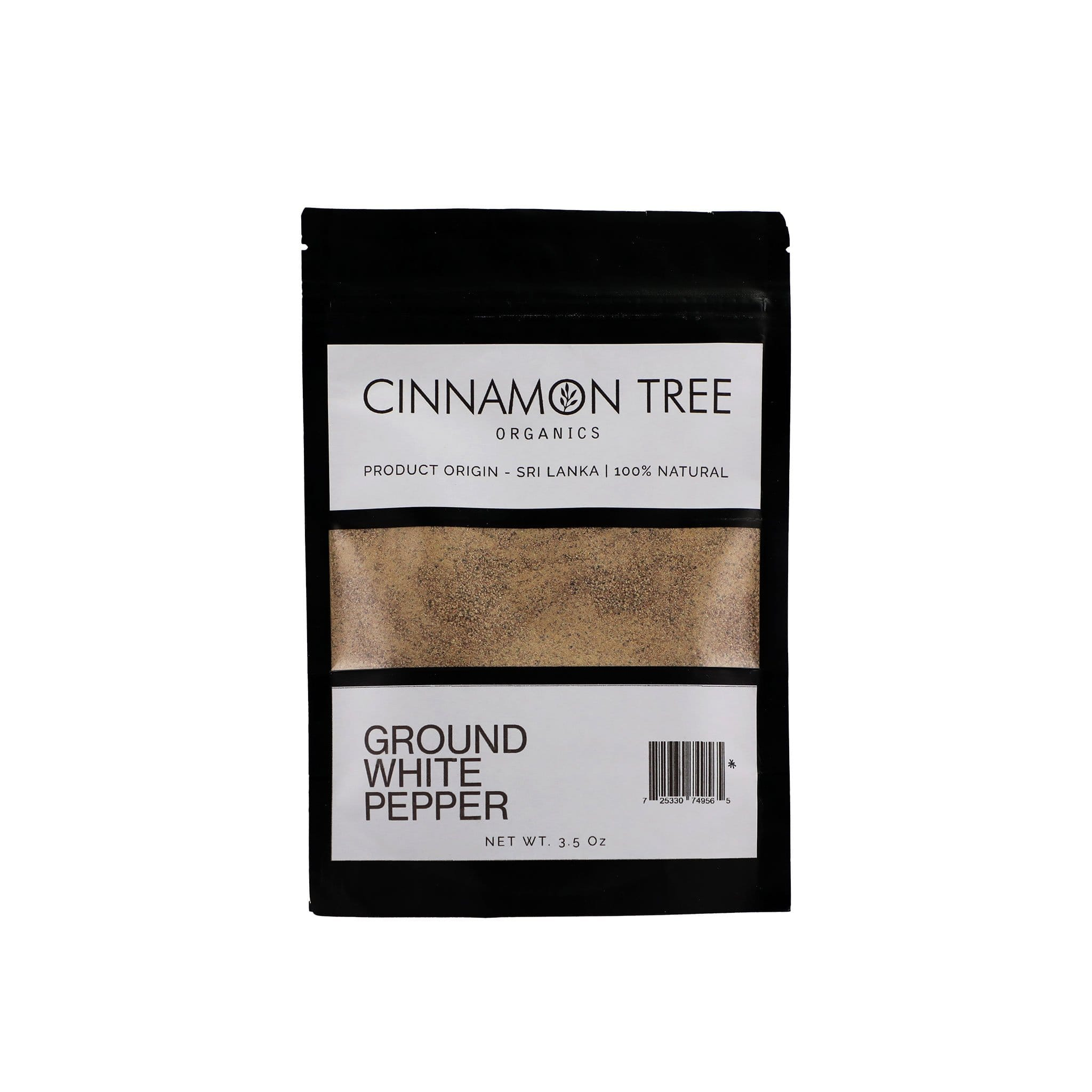 Cinnamon Tree Organics Certified-organic single origin ground white pepper 3.5Oz