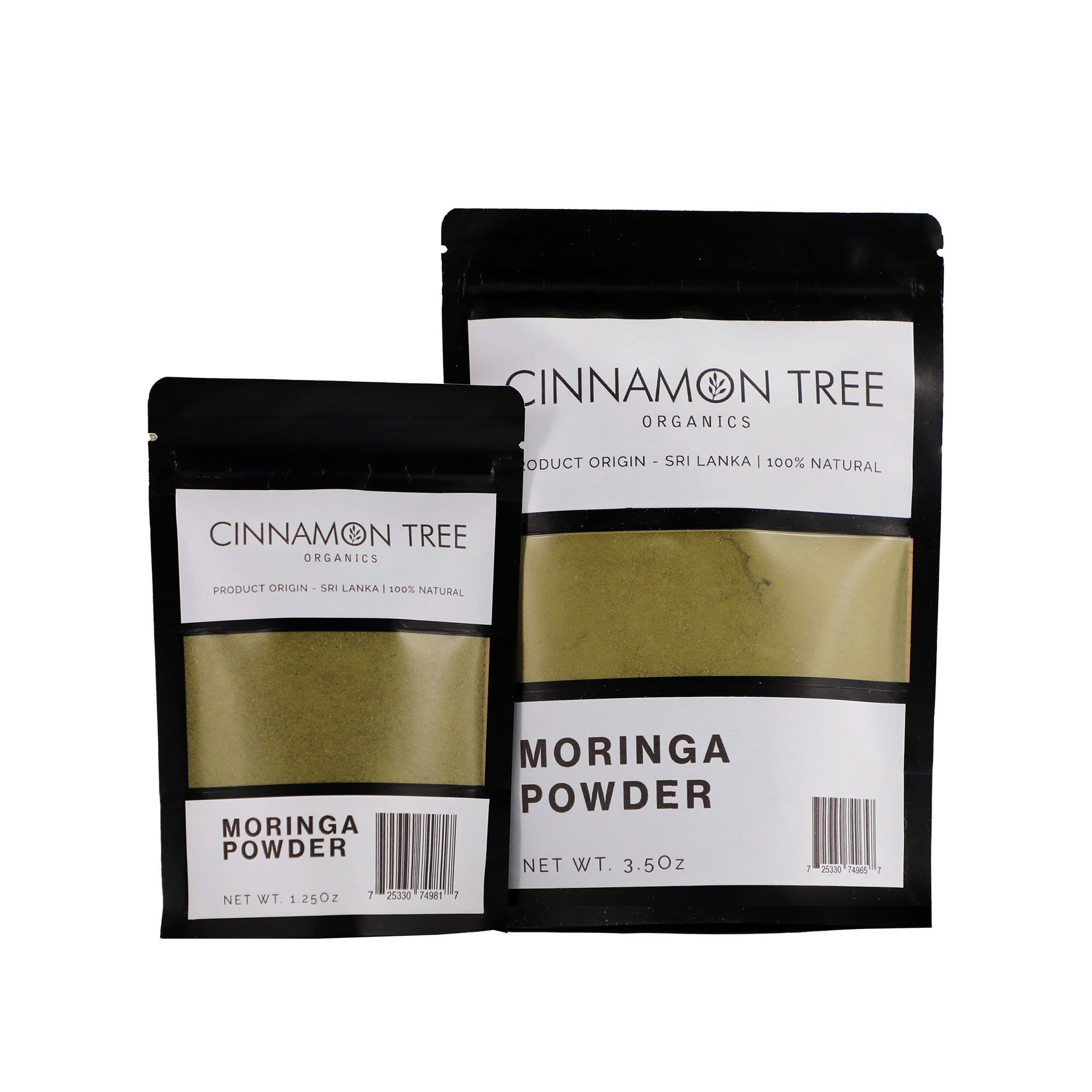 Cinnamon Tree Organics organically grown moringa powder packs