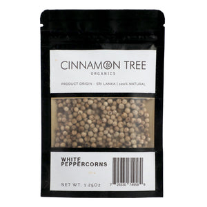 Cinnamon Tree Organics organic white peppercorns 1.25 Oz