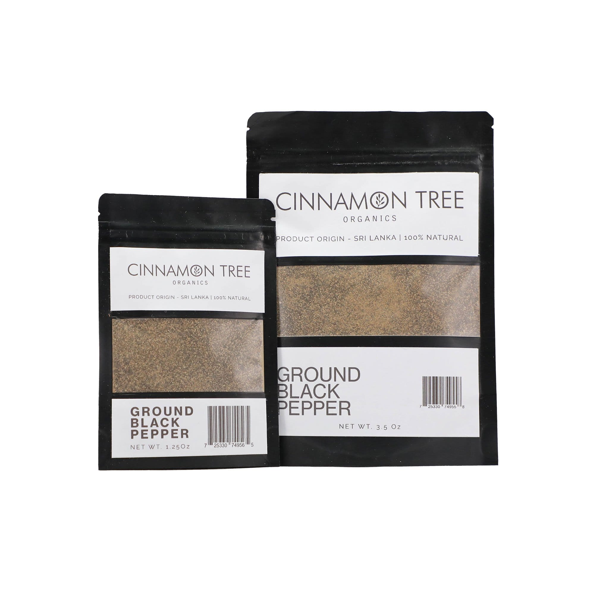 Cinnamon Tree Organics Ground Black Pepper Pouches