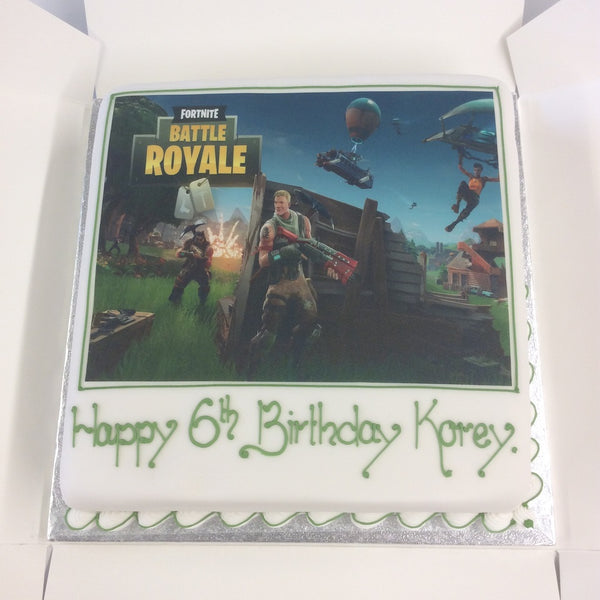 Fornite Theme Cake