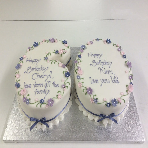 Double Number Birthday Cake