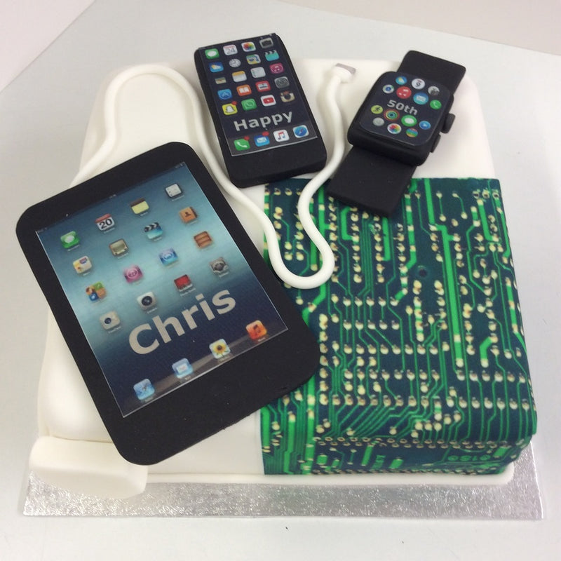 Electrical Devices Birthday Cake