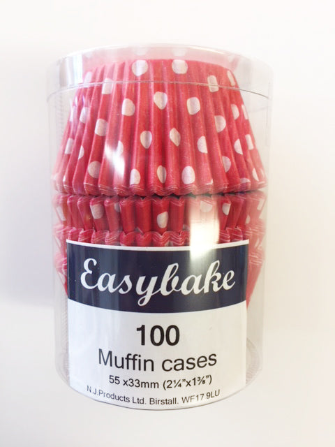 Easybake Muffin Cases - Red Polka Dots