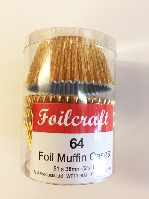 Foilcraft Muffin Cases - Gold