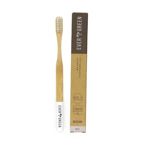 Ever Green Bamboo Toothbrush White