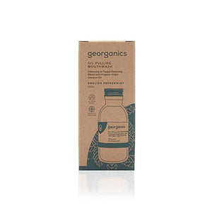 Georganics Oil Pulling Mouthwash - English Peppermint