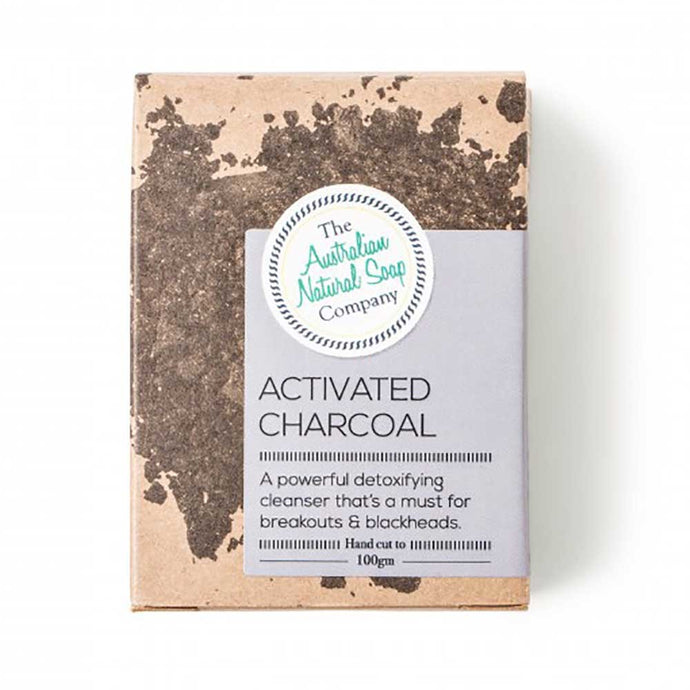 Australian Natural Soap Co Activated Charcoal Face Cleanser Bar 100g