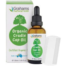 Load image into Gallery viewer, Grahams Organic cradle Cap Oil - 50ml