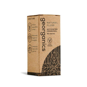 Georganics Natural Floss - Peppermint & Activated Charcoal