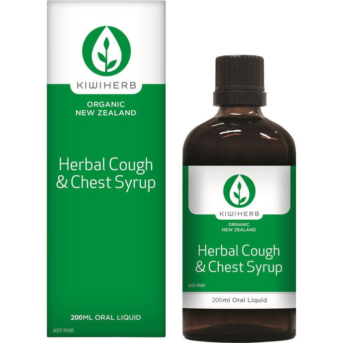 KiwiHerb Herbal Cough & Chest Syrup 200ml
