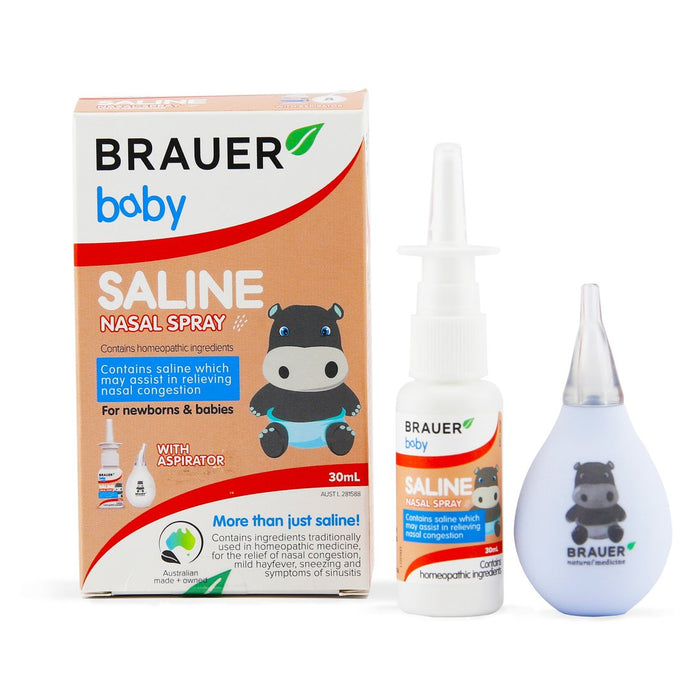 Baby Saline Nasal Spray 30mL with aspirator