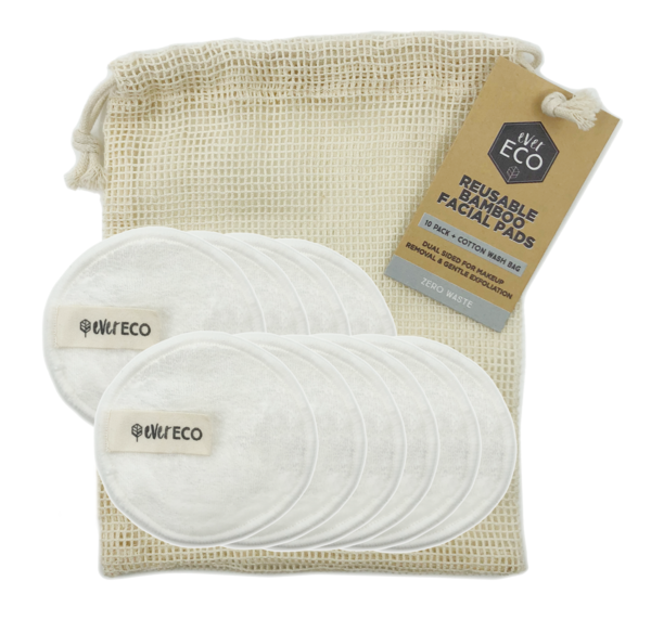 Ever Eco Reusable Bamboo Facial Pads x 10
