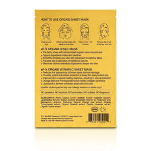 Orgaid Vitamin C & Revitalising Organic Sheet Mask