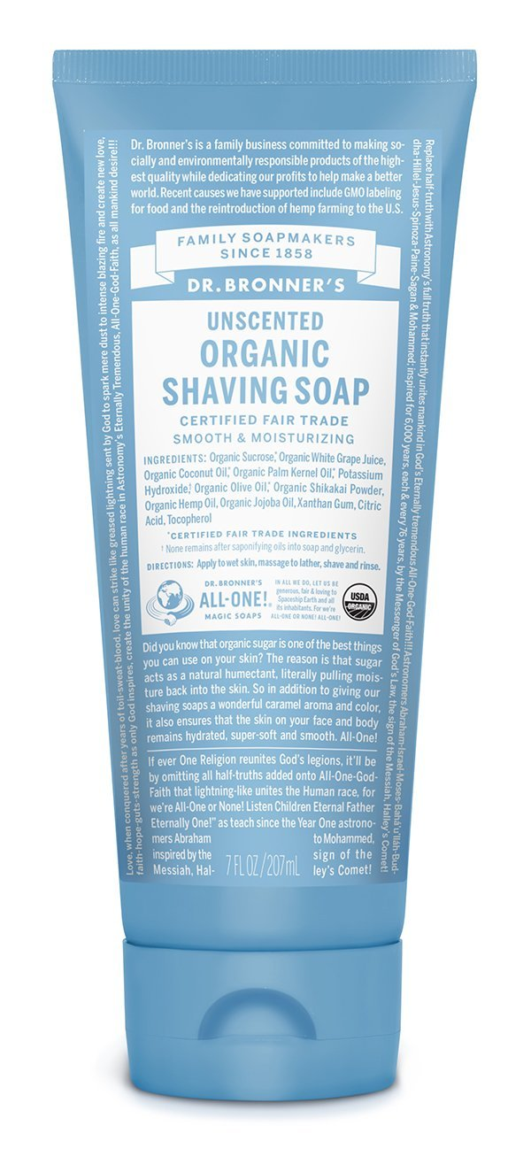 Dr Bronner's Organic Shaving Soap (unscented)