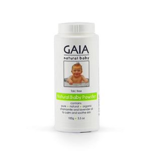 GAIA Natural Baby Powder - Talc Free 100g