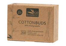Load image into Gallery viewer, Go Bamboo Biodegradable Cotton Buds