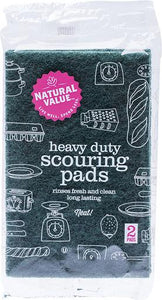 NATURAL VALUE Heavy Duty Scouring Pads 2 Pack