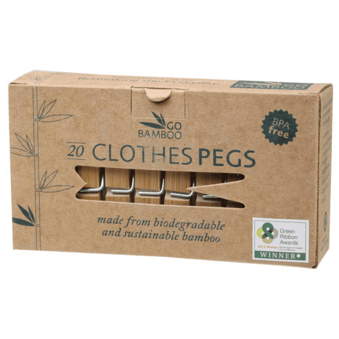 Go Bamboo Biodegradable Pegs Pk 20